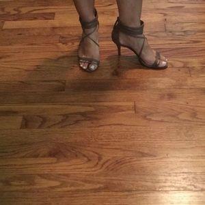 Schutz ankle strap heels 6.5